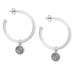 Lucky Brand Hematite-Pavé Hoop earrings